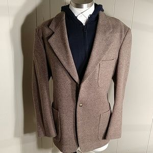 JoS. A. Bank Chocolate Cream Wool Blazer